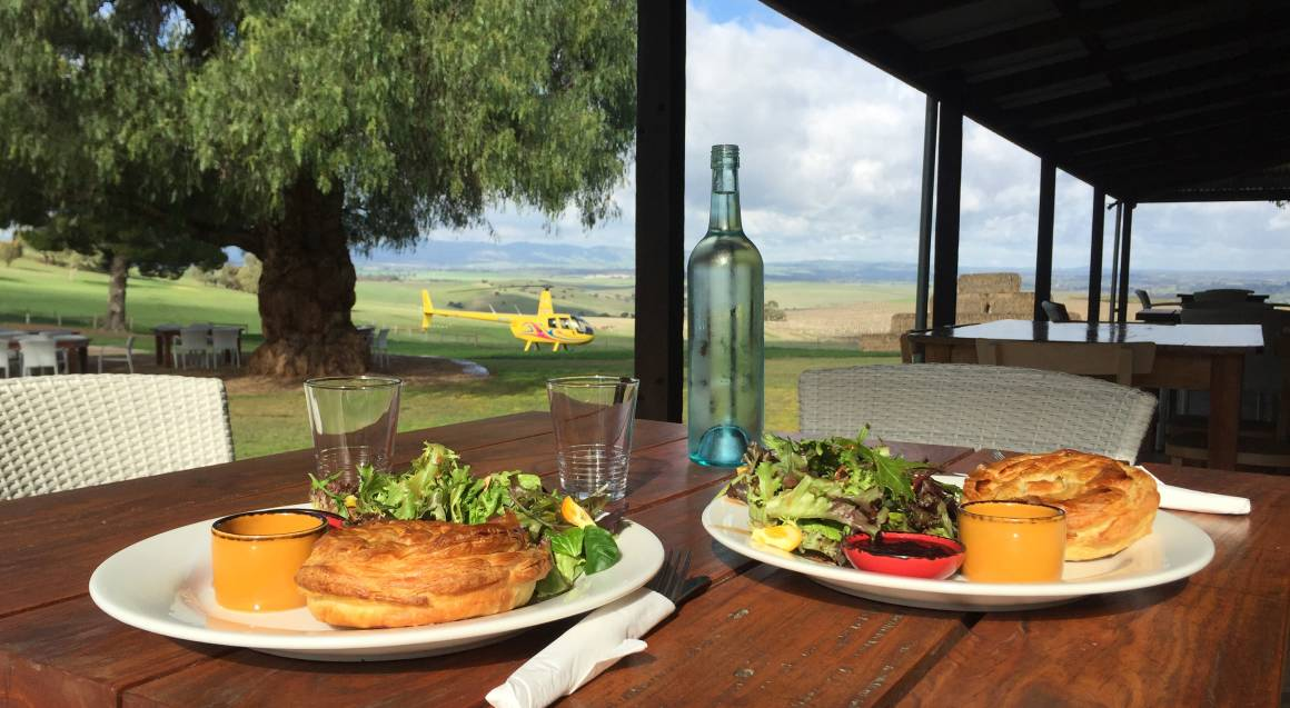 Private Helicopter Flight with Grazing Platter and Wine