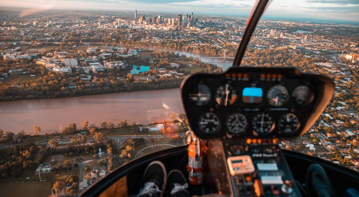 Private Helicopter Sunset Flight with Champagne