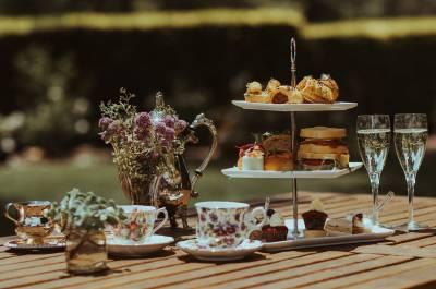 Country high tea setting