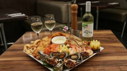 RedBalloon Gourmet Seafood Platter with a Bottle of Wine - For 2