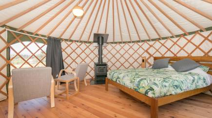 RedBalloon Overnight 5m Yurt Eco Glamping in Wanaka - For 2