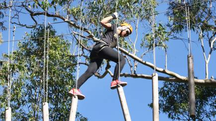 RedBalloon High Ropes Climbing Course with Flying Foxes - West Sydney