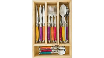 RedBalloon Laguiole by Louis Thiers - 24 Piece Toujours Cutlery Set