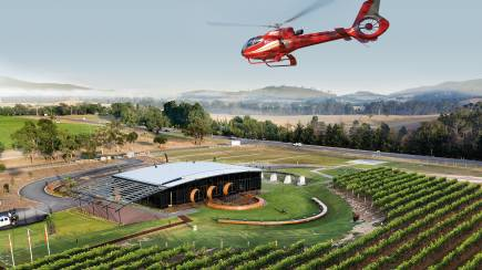 RedBalloon Private Helicopter Flight and Shared Lunch at Levantine Hill