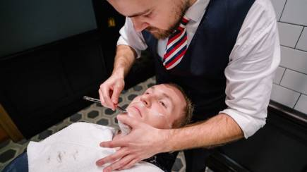 RedBalloon Men's Barber Shop Hair Cut, Shave and Take-Home Products