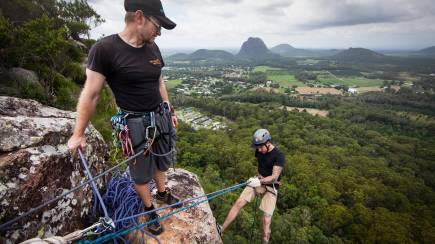 RedBalloon Abseil the Glasshouse Mountains - Full Day