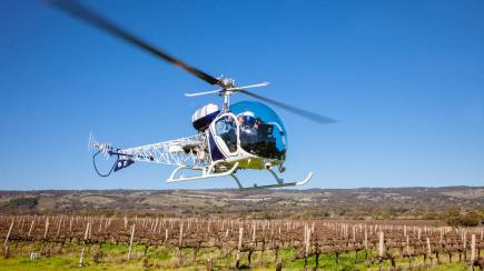 RedBalloon Private 30 Minute Heli Flight with 3 Course Lunch - For 2