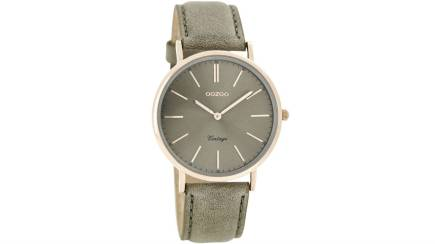 RedBalloon OOZOO C7374 - 36mm - Petite Slimline Vintage Style Watch - Warm Grey