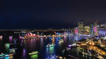 RedBalloon Vivid Sydney Harbour Cruise with Light Buffet and Drink