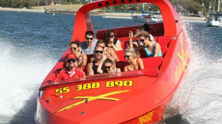 RedBalloon High Speed Jet Boat Ride with 360 Spins – 55 Minutes - For 2