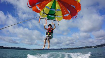 RedBalloon Parasailing Solo Flight in the Bay of Islands