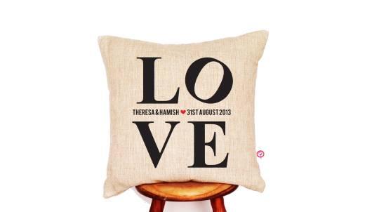 Personalised L.O.V.E. Cushion Cover