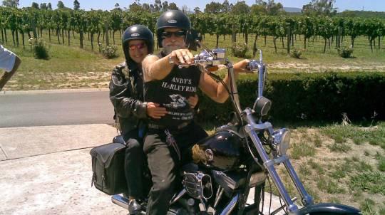 Harley Davidson Motorcycle Winery Tour