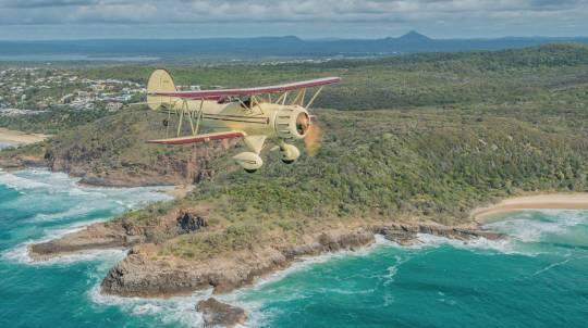 North Stradbroke Island Biplane Flight - 30 Minutes - For 2