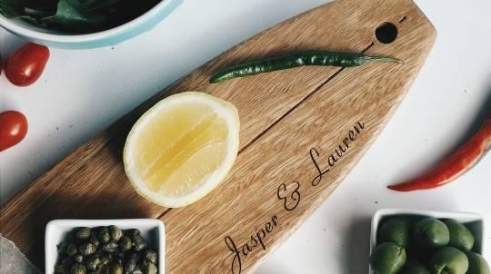 Personalised Australian Hardwood Longboard Serving Platter
