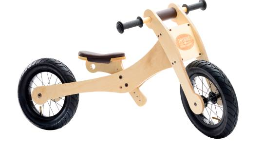 Wooden Balance Bike with Four Height Settings