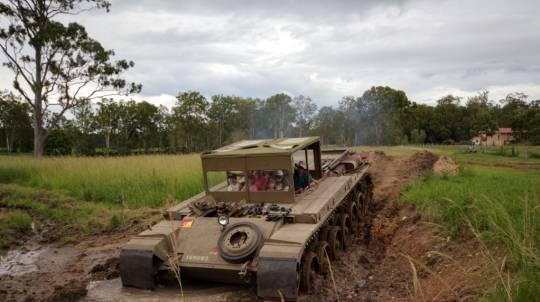 Passenger Ride in a Centurion Tank