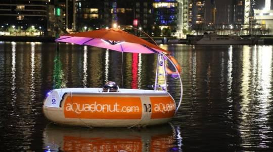 Aqua Donut Floating BBQ Rental - 2 Hours - For 10