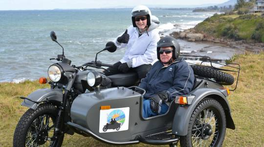 2 Hour South Coast Sidecar Tour