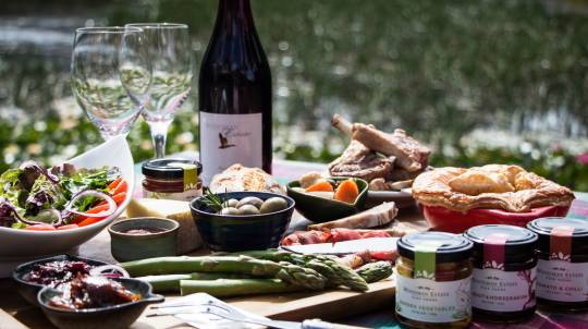 Farmer's Produce Lunch with Wine and Gift Pack - For 2