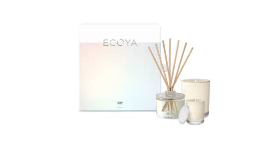 Ecoya Scented Candles and Diffuser Gift Set - French Pear