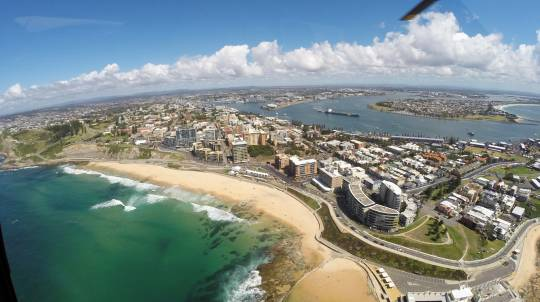 Family Helicopter Flight over Newcastle and Lake Macquarie