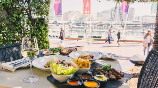 3 Course Mediterranean Feast with Wine by the Harbour- For 2