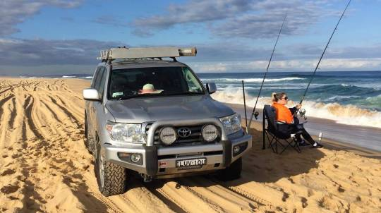 4WD and Beach Fishing Tour with BBQ Lunch - For 4
