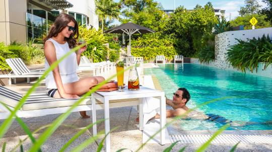 Hotel Sunbed Rental with Fruit Platter and Punch - For 2