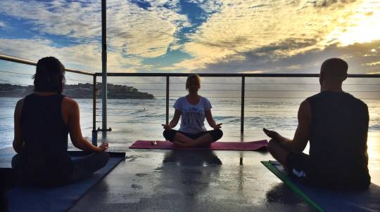 Private Yoga by the Sea Session at Bondi Icebergs