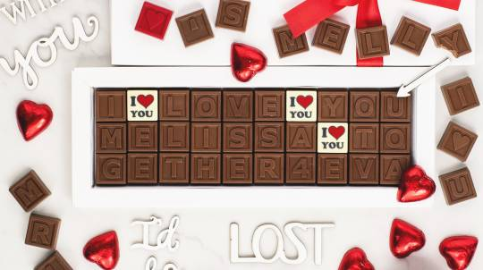 Personalised Chocolate Message - 30 Characters