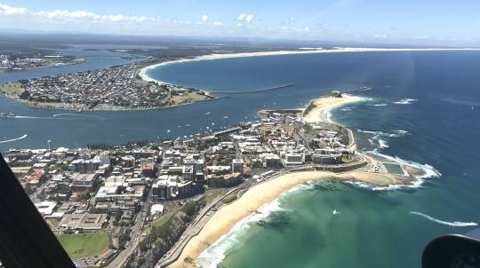 Newcastle Scenic Helicopter Flight - 12 Minutes - For 2