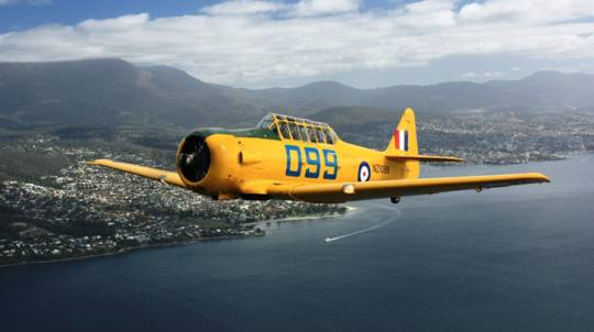 Warbird Adventure Flight Over Hobart - 20 Minutes