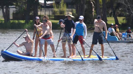 Giant Stand Up Paddle Board Hire - 60 Minutes - For up to 10