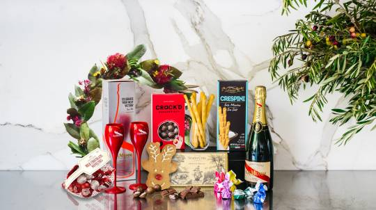 Gourmet Christmas Hamper with G.H. Mumm Champagne and Flutes