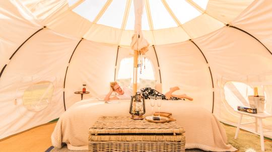 2 Night Glamping Getaway with Gourmet Hampers