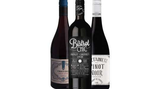 French Red Wine Trio