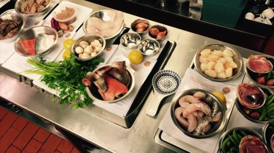 Fish and Seafood Cooking Class with Meal and Wine