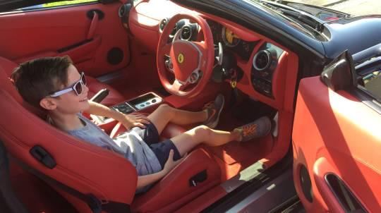 Ferrari Kids Ride with Bonus Model Car - 30 Minutes