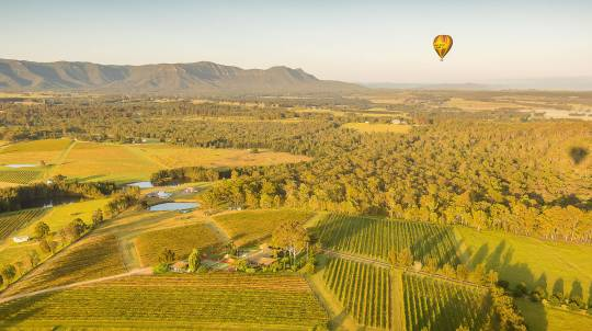 Hot Air Ballooning Over The Hunter Valley with Breakfast