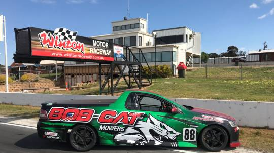 Thrill Ride in a V8 Ute Race Car - 4 Hot Laps