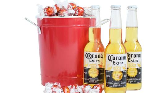 Corona Celebration Beer and Chocolate Bouquet