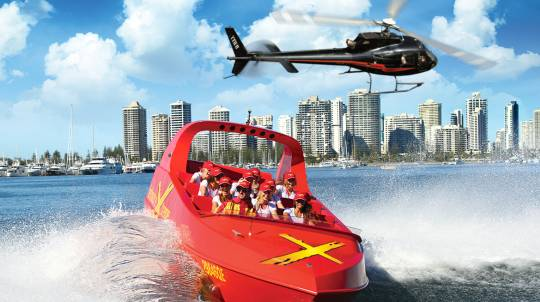 Jet Boat Thrill Ride and Helicopter Flight