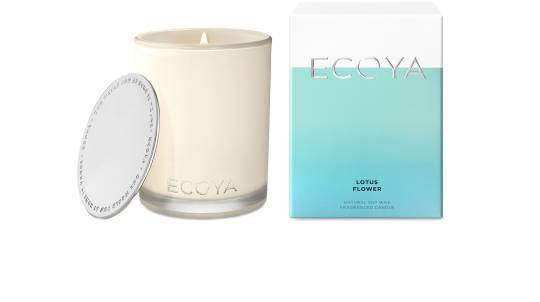 Ecoya Madison Natural Soy Wax Candle - Lotus Flower