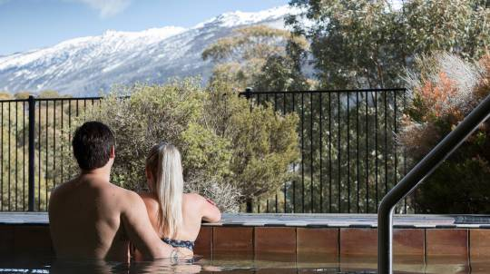 2 Night Snowy Mountains Escape with Breakfast, Wine and More