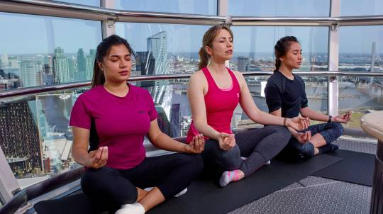 Vinyasa Yoga in the Sky - 60 Minutes - For 3