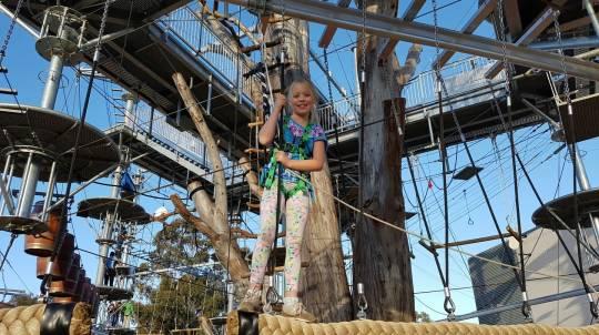 Kids Climbing Course and Go Bananas Jungle Gym Entry