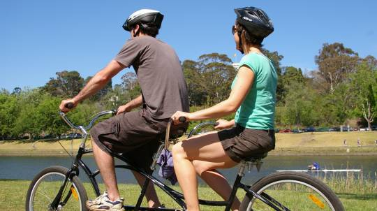 Self Guided Tandem Bicycle Hire and Lunch - For 2