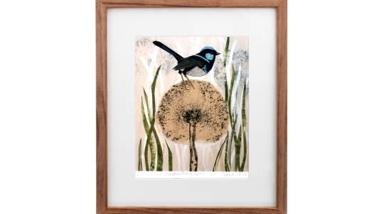 Framed Art Print - Fairy Wren