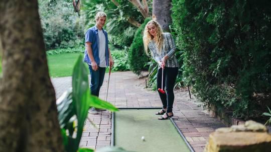 36-Hole Outdoor Mini Golf with Slushy and Novelty Gift